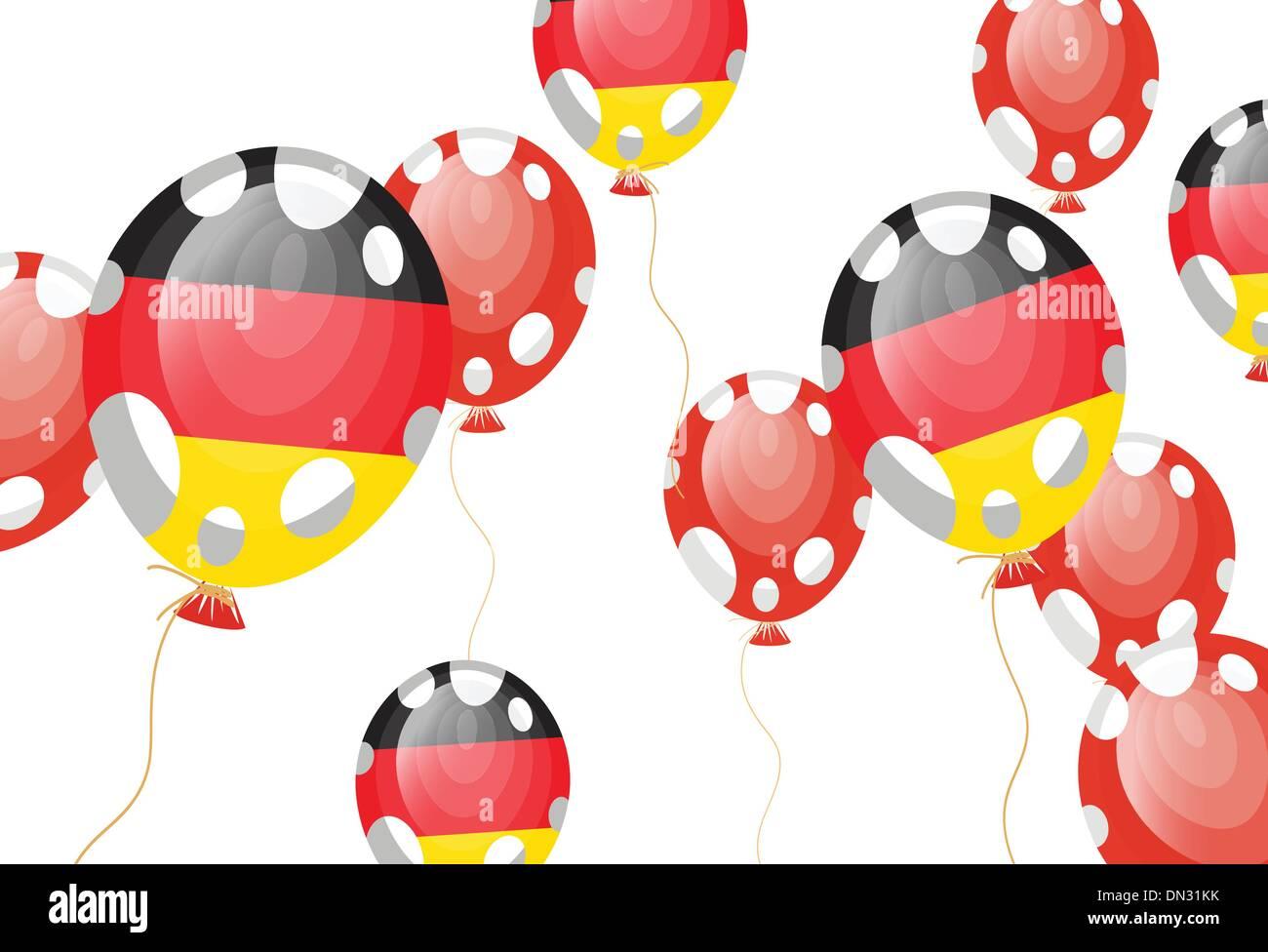 balloon of German flag - Stock Vector