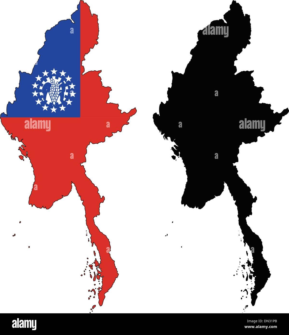 Myanmar - Stock Vector