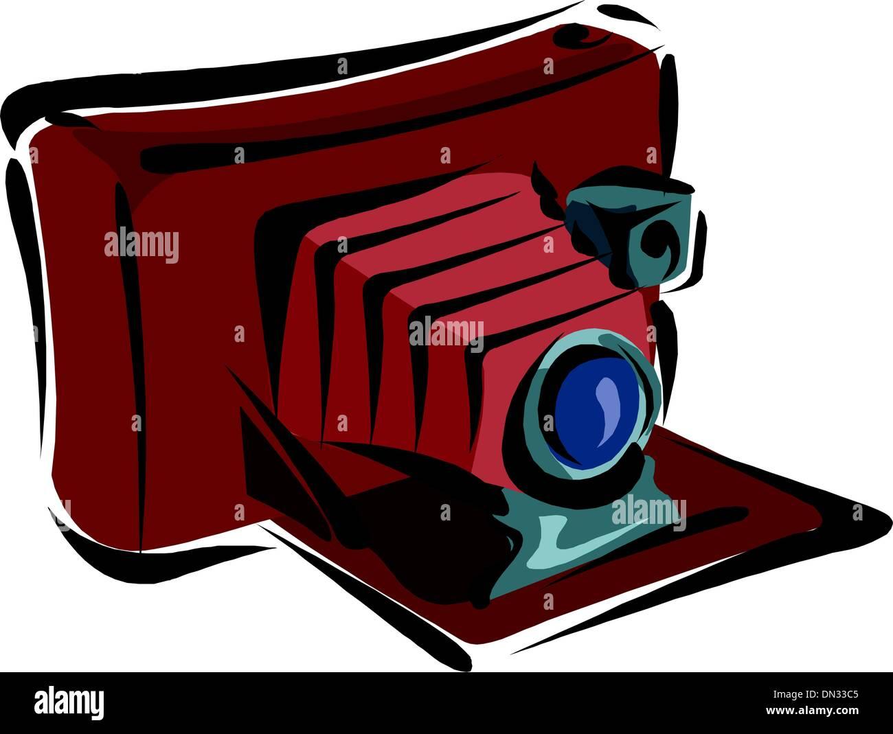 Vintage photo camera - Stock Vector