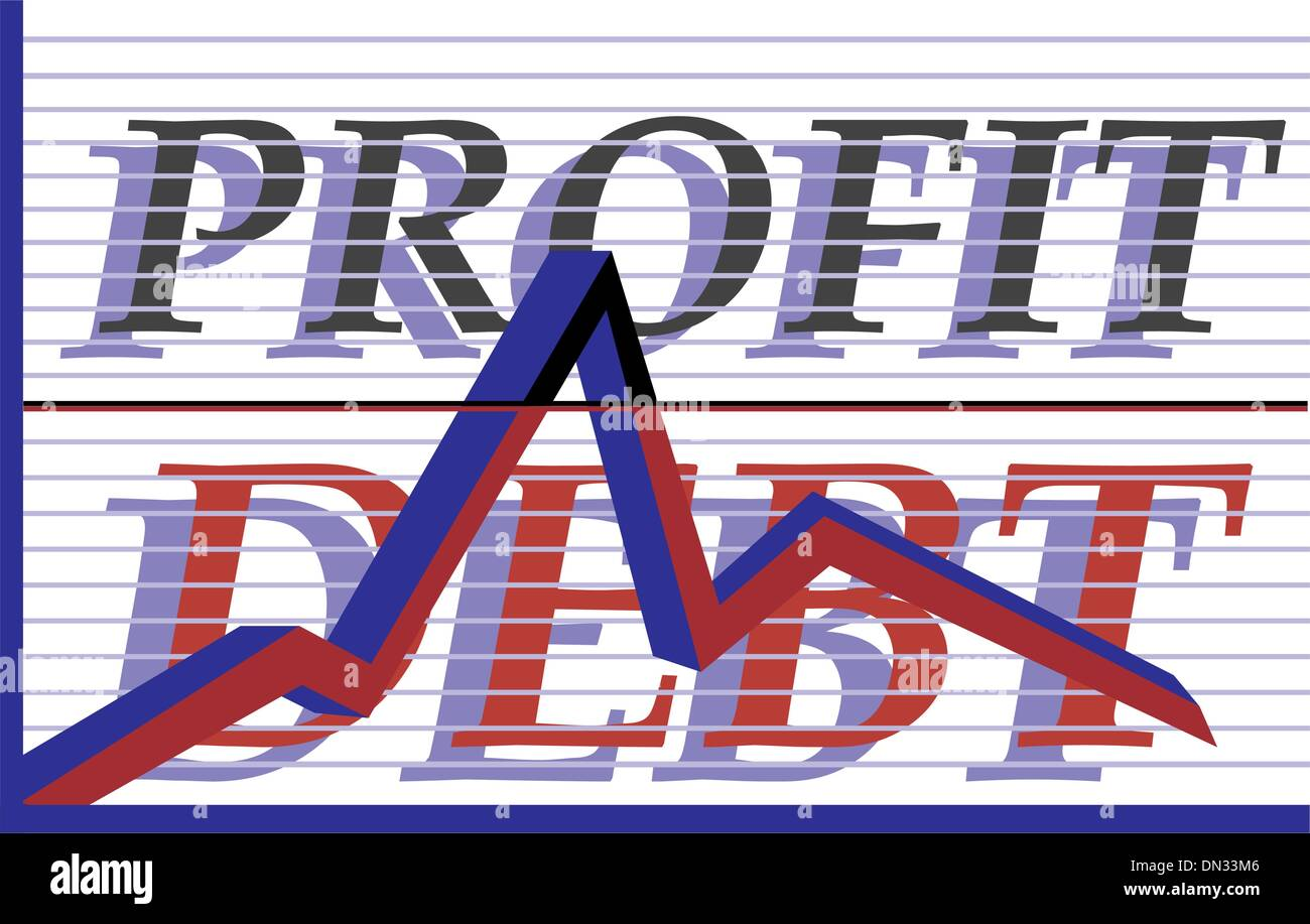 Profit debt - Stock Vector