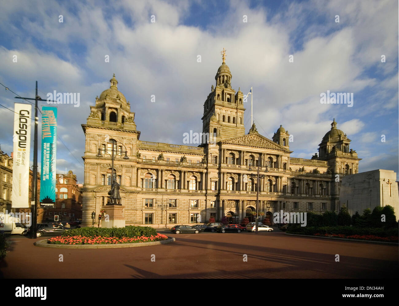 glasgow george square city chambers - Stock Image