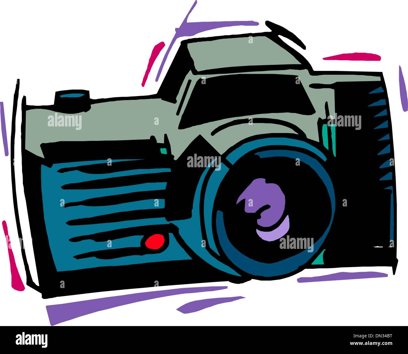Professional slr camera - Stock Image