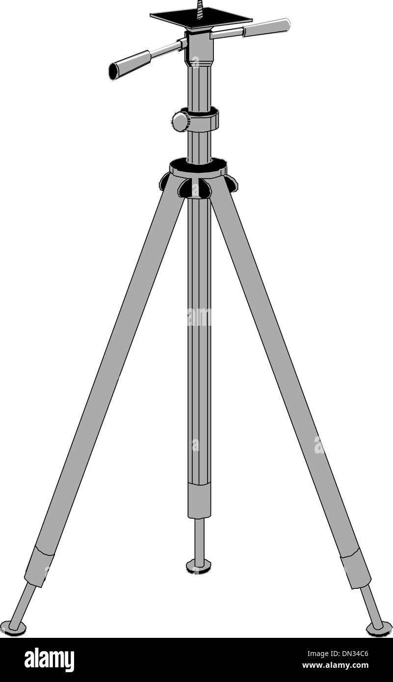 TripodCamera - Stock Vector