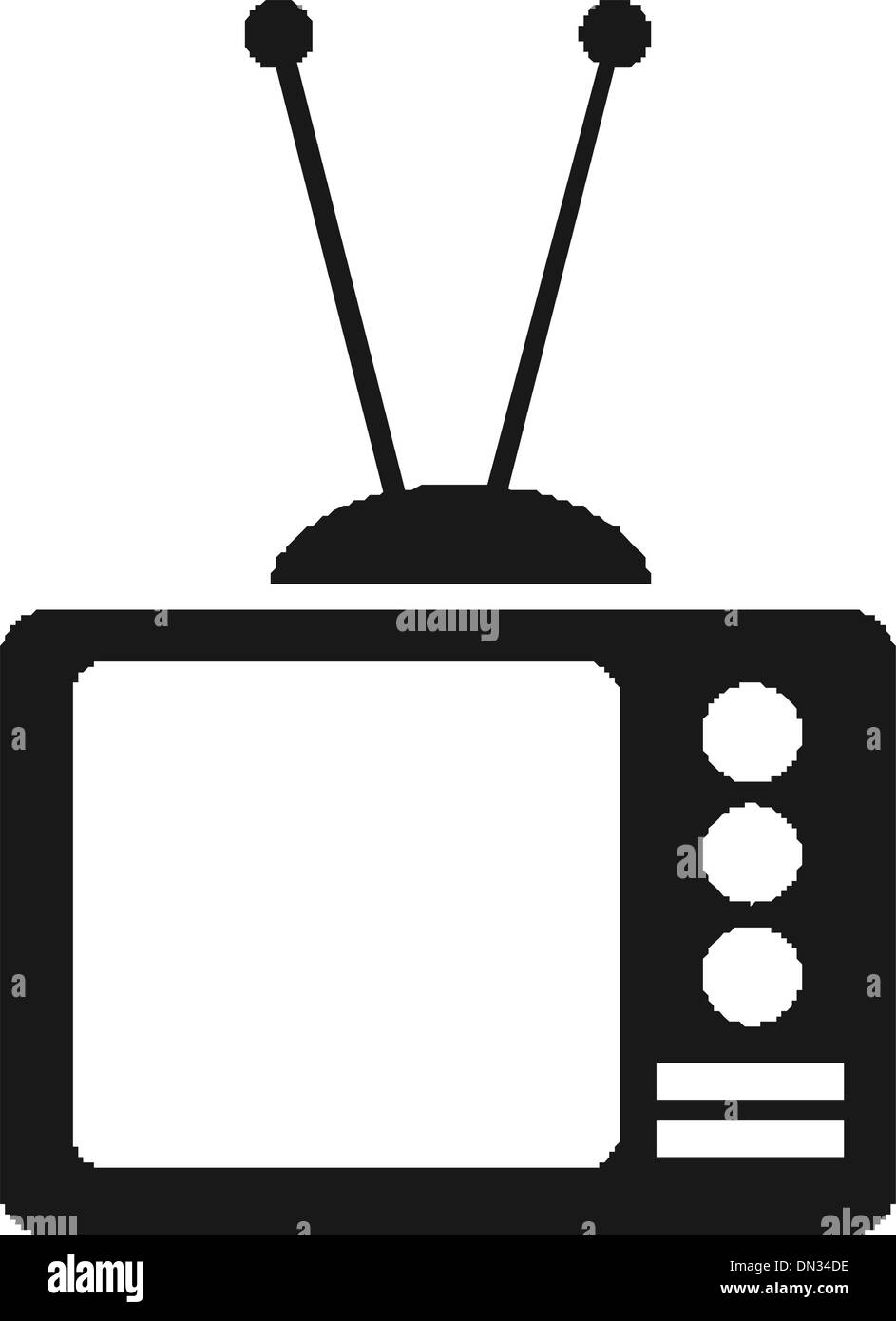 TV vector - Stock Image