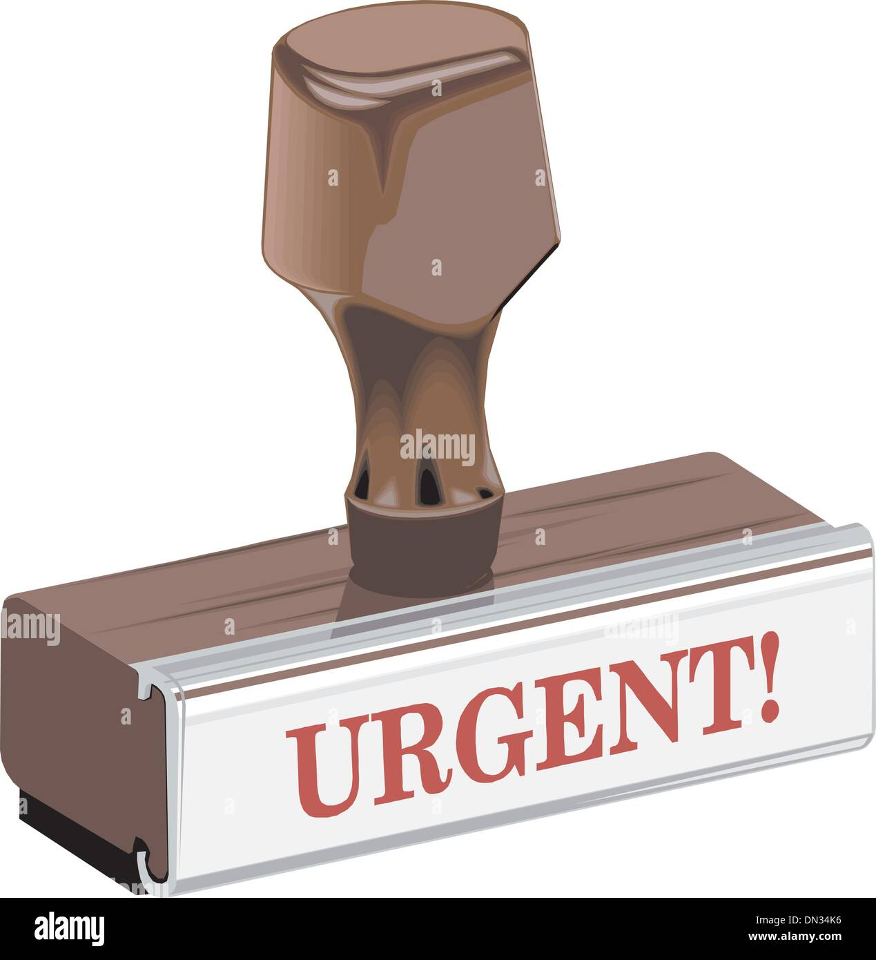 Stamp urgent - Stock Image