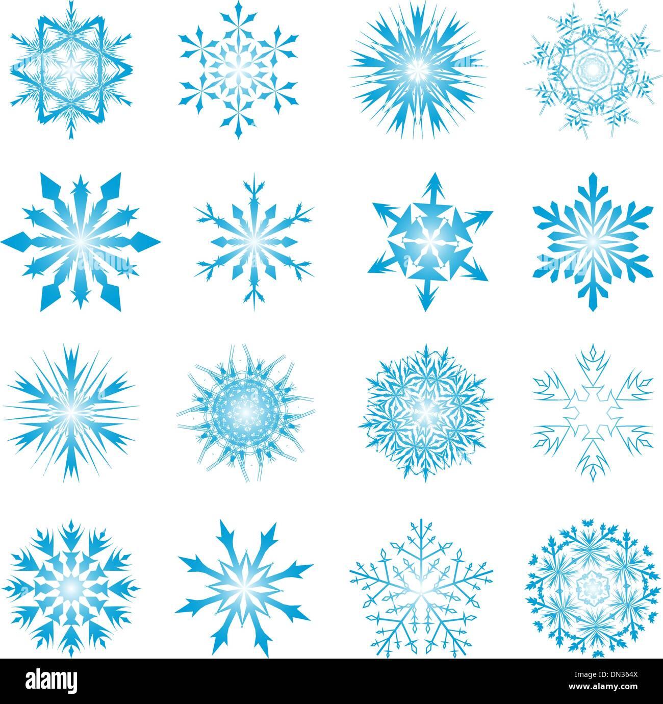 Snowflake Set - Stock Image