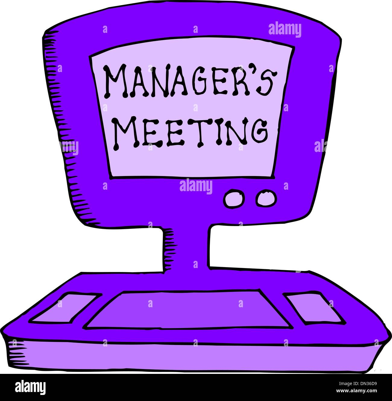managers meeting - Stock Vector