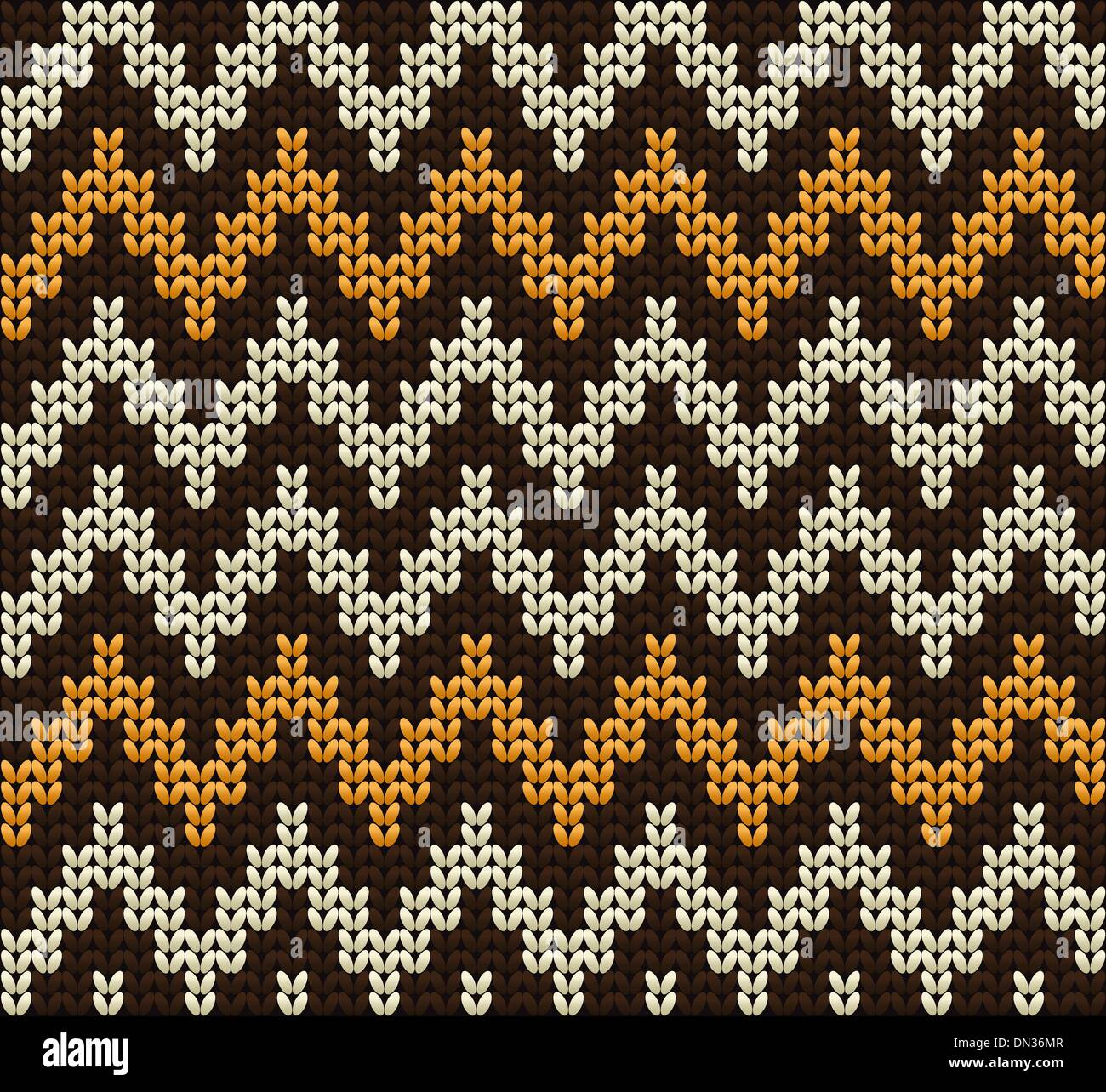 Knitted wool vector background - Stock Vector