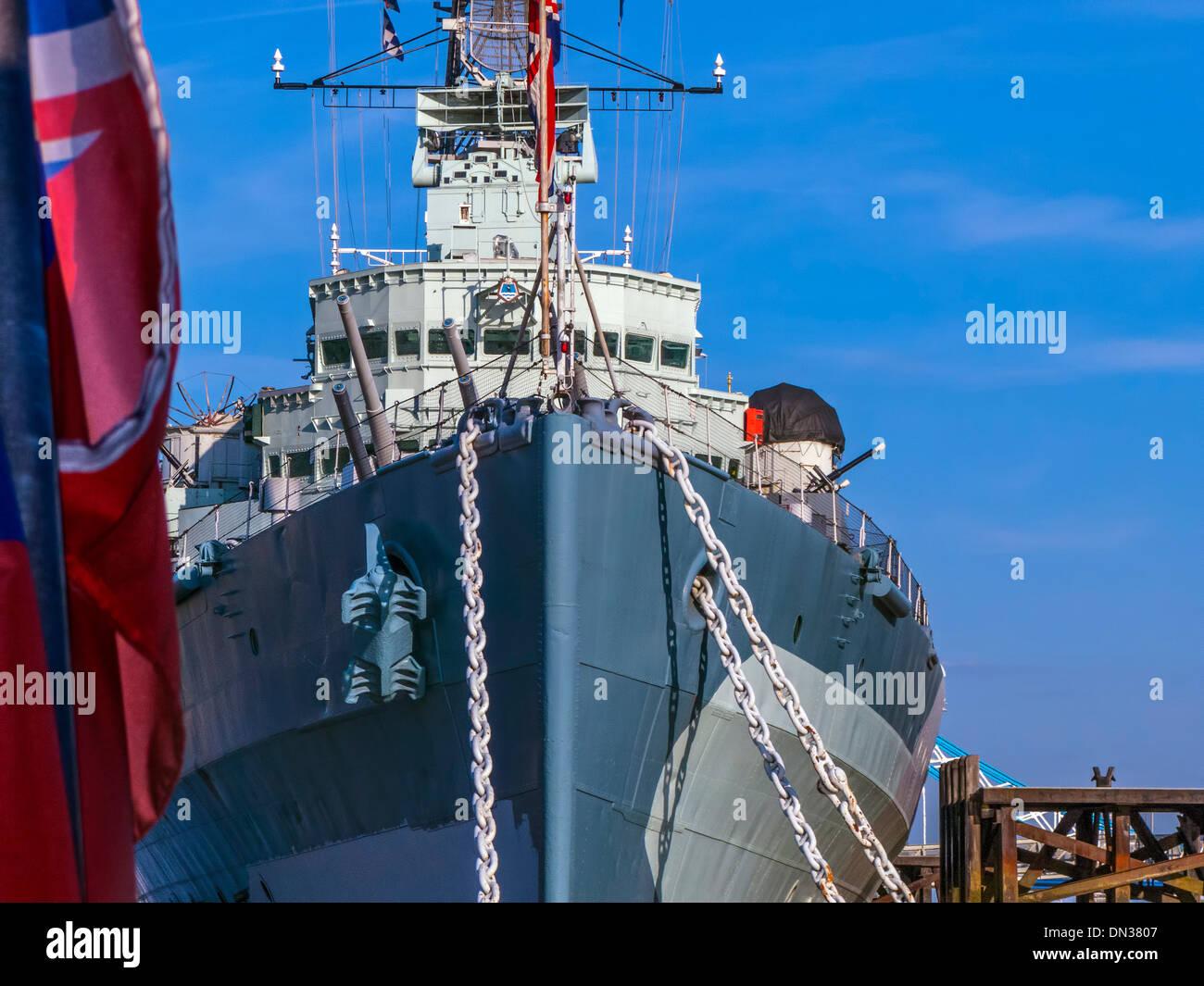 HMS Belfast, London - Stock Image
