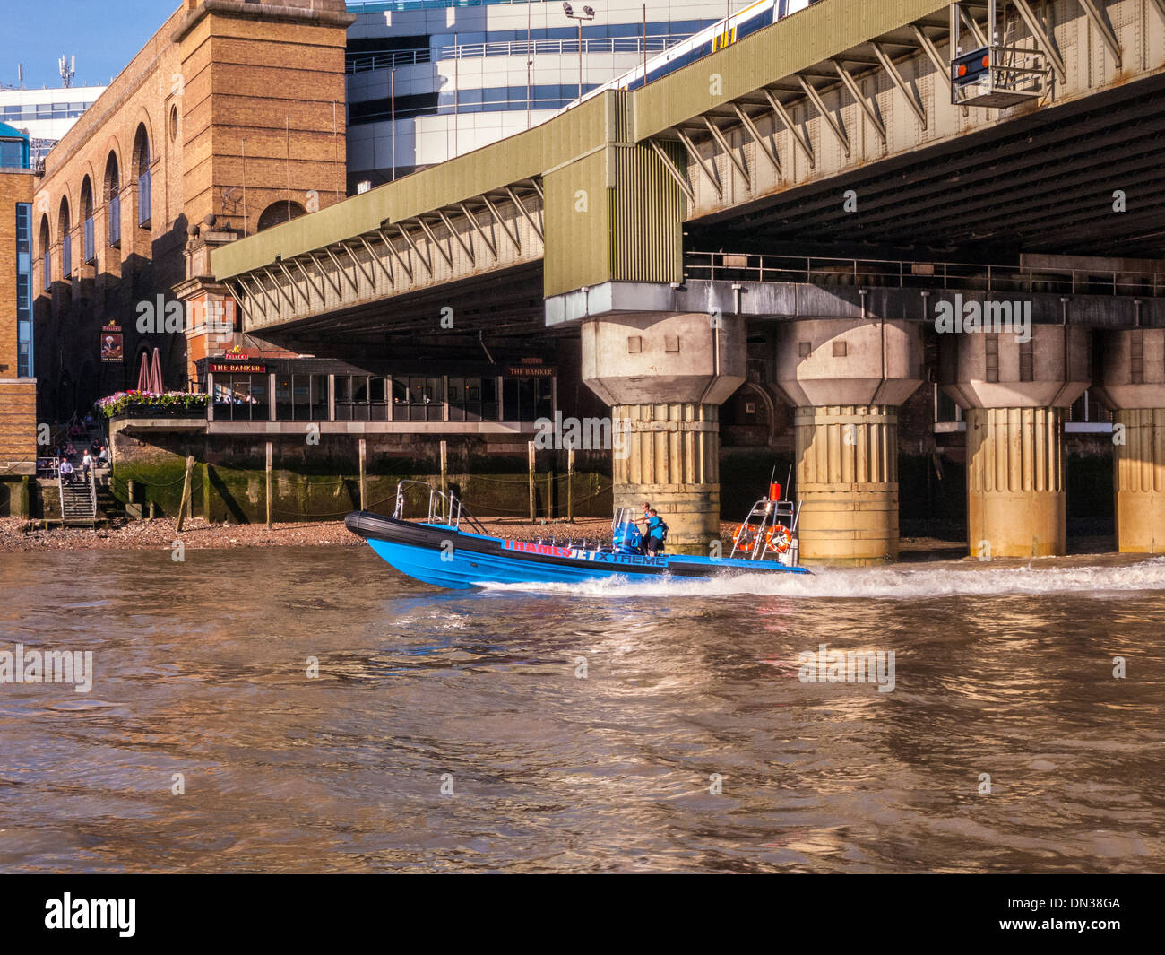High speed boat on River Thames, London - Stock Image
