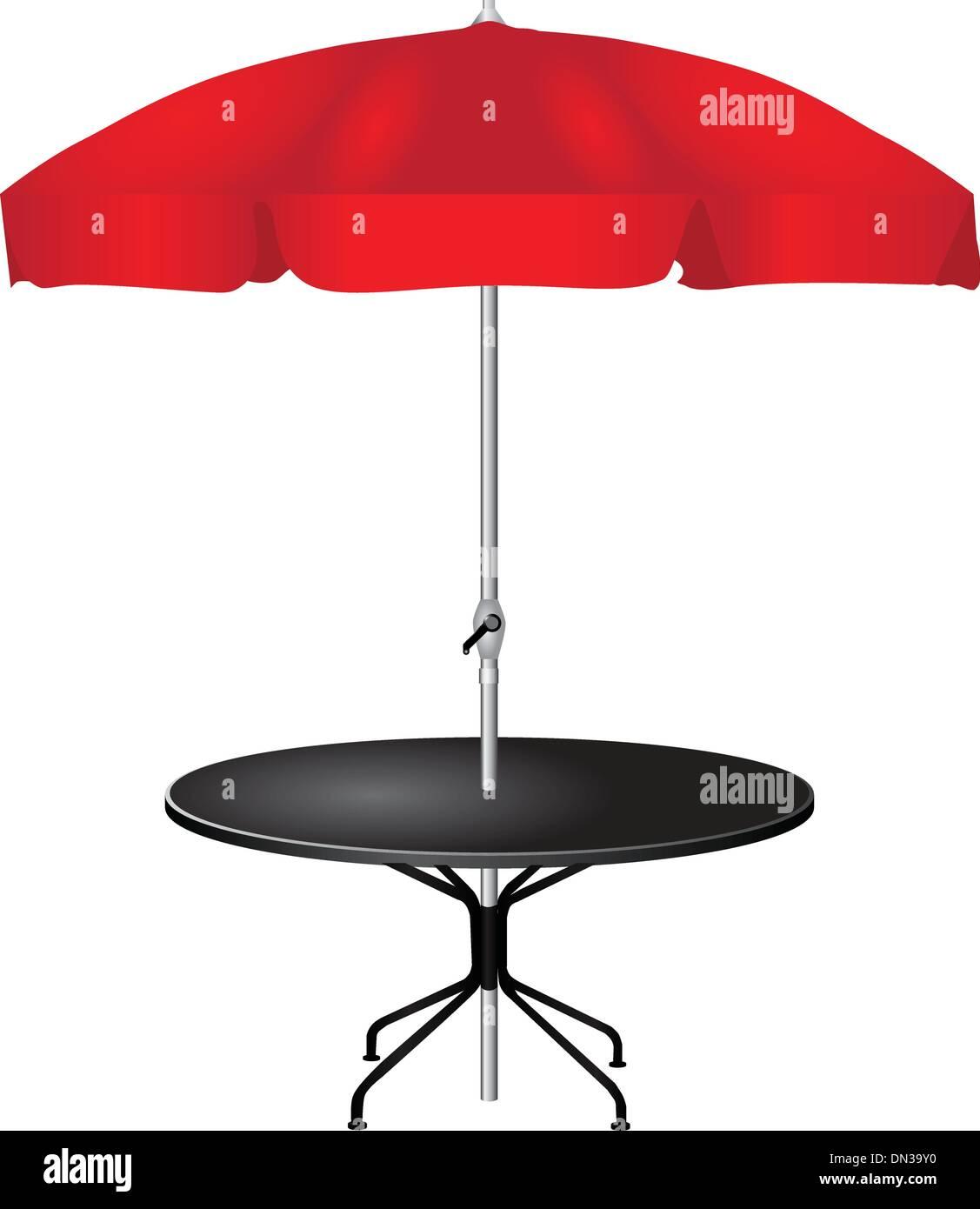 Outdoor coffee table - Stock Vector
