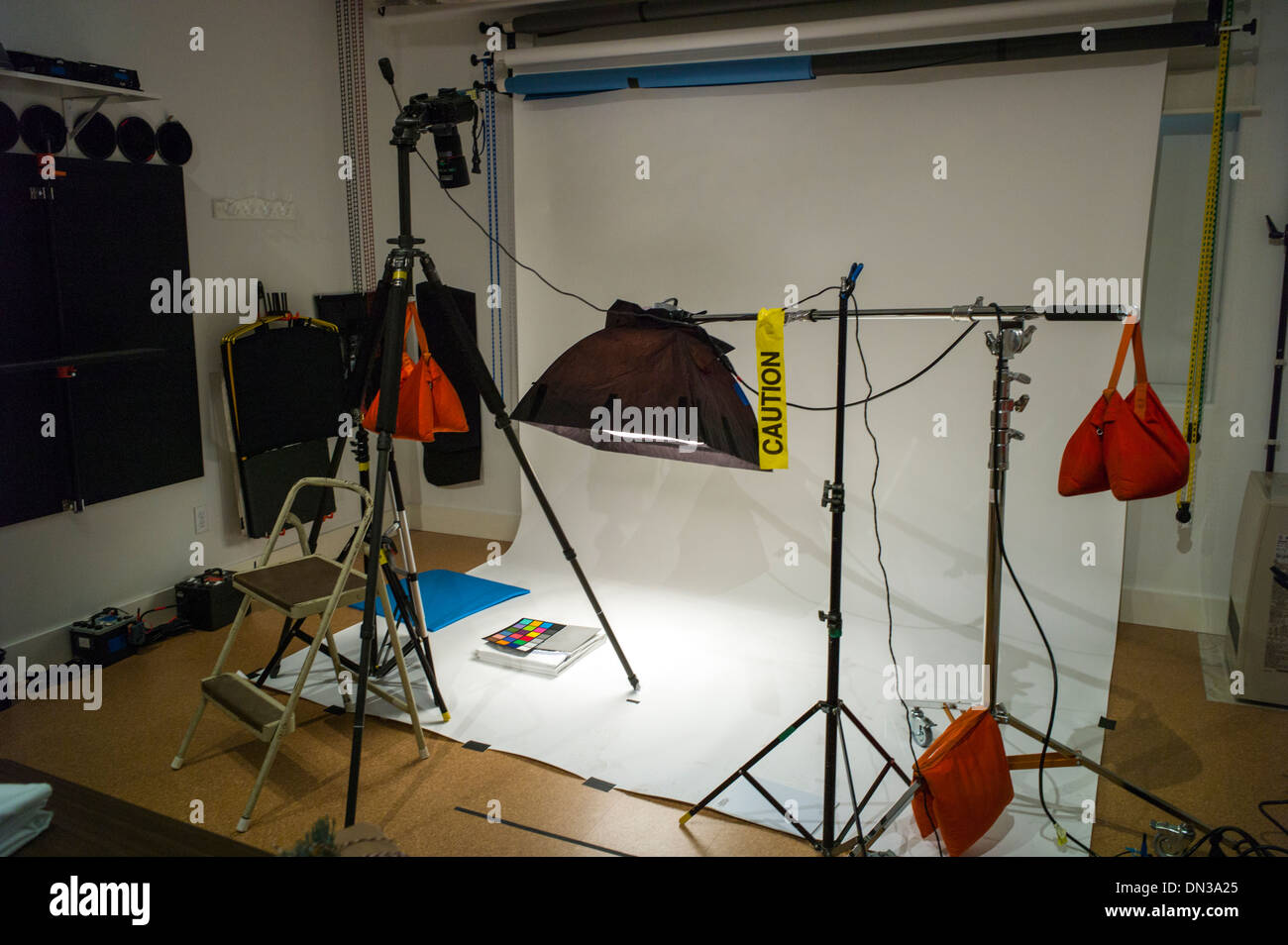 Commercial photography set including lighting stock photos commercial photography set including lighting background and grip gear stock image aloadofball Images