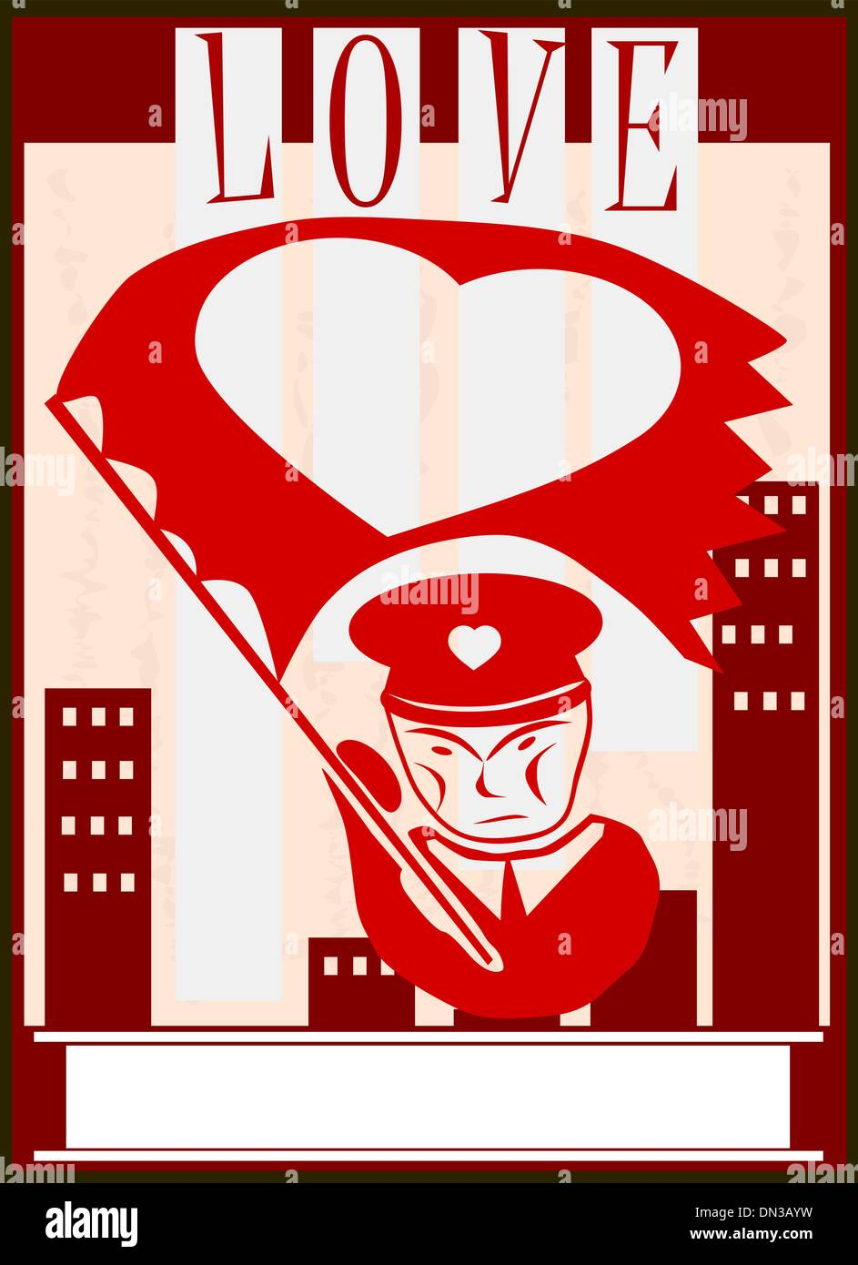Love propaganda - Stock Vector