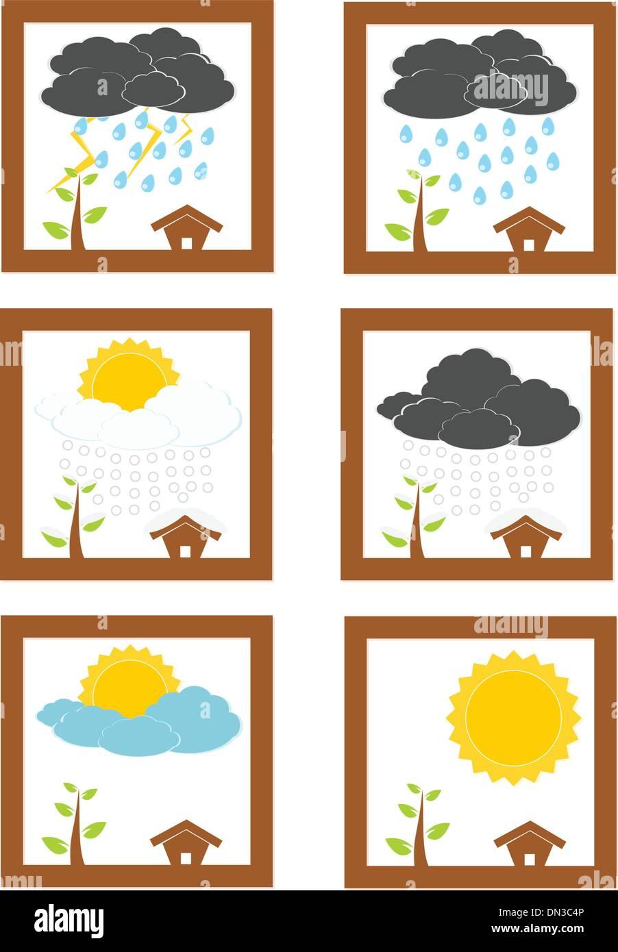 Weather set - Stock Vector