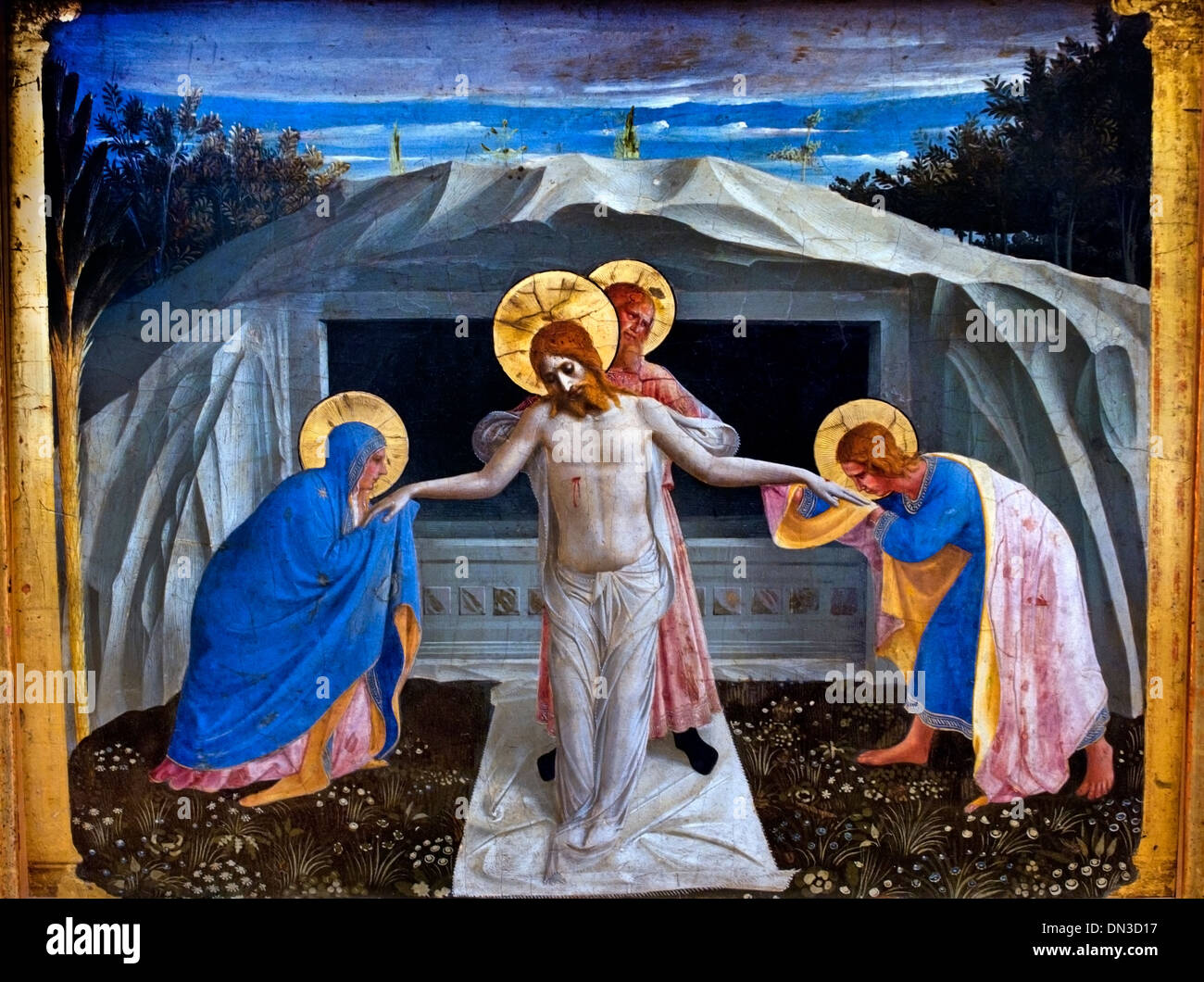 ENTOMBMENT OF CHRIST 1438 FRA ANGELICO (1395-1455) Italy Italian - Stock Image