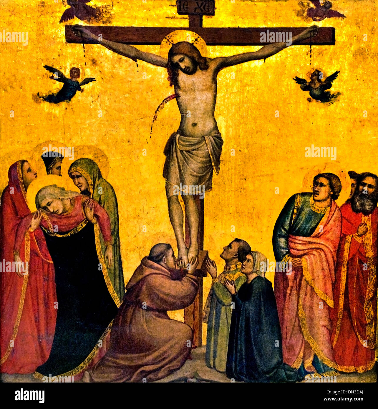 Christus am Kreuz - Christ on the Cross 1266 - 1337  Giotto di Bondone Italy Italian - Stock Image