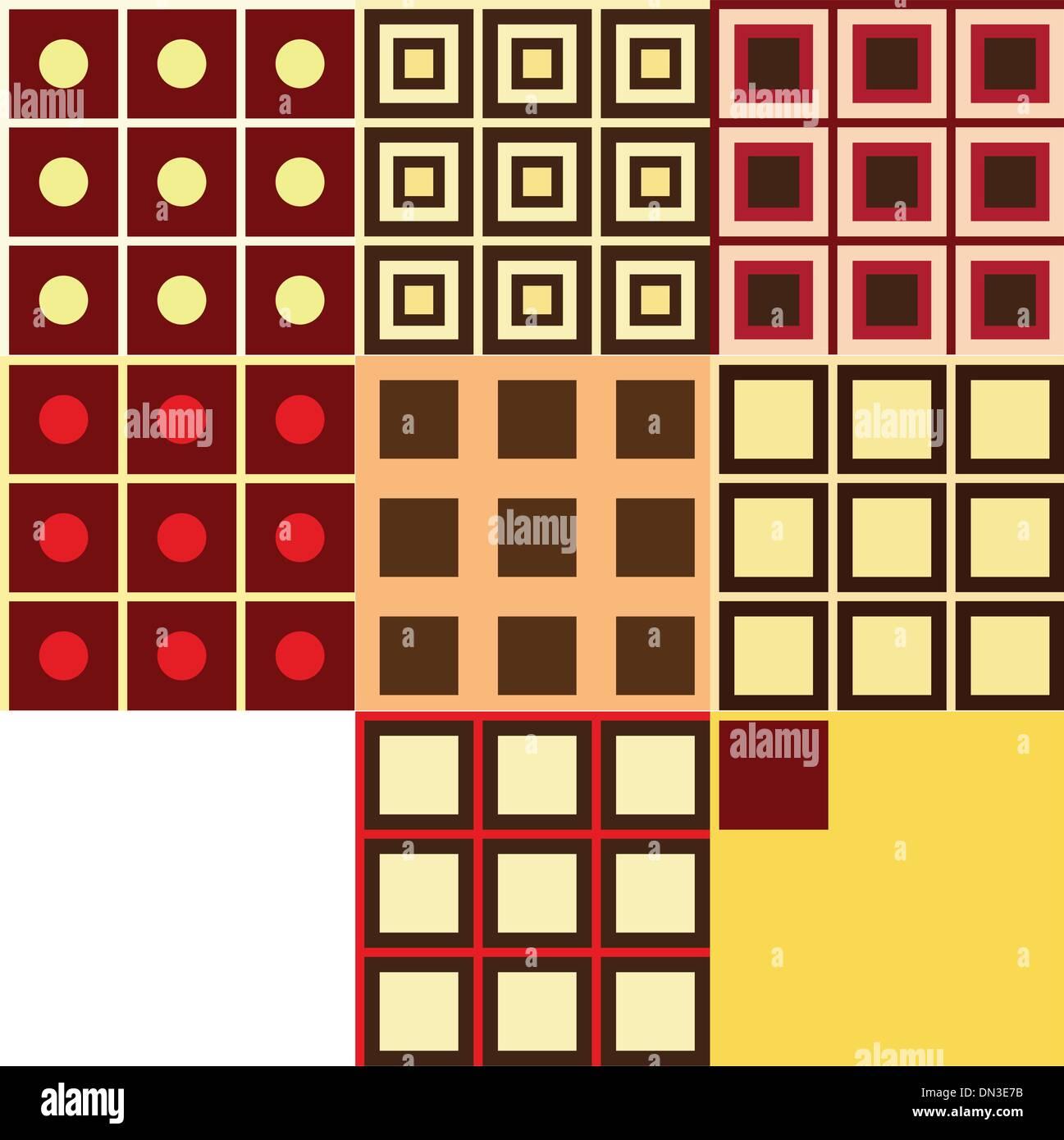 set of geometry patterns - Stock Image