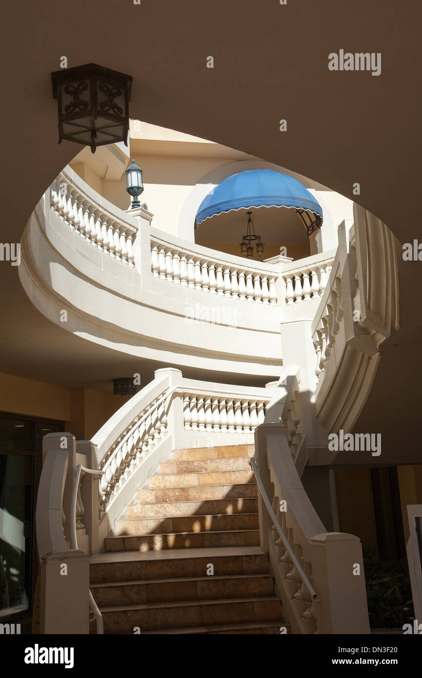 Flight of stairs and a balcony - Stock Image