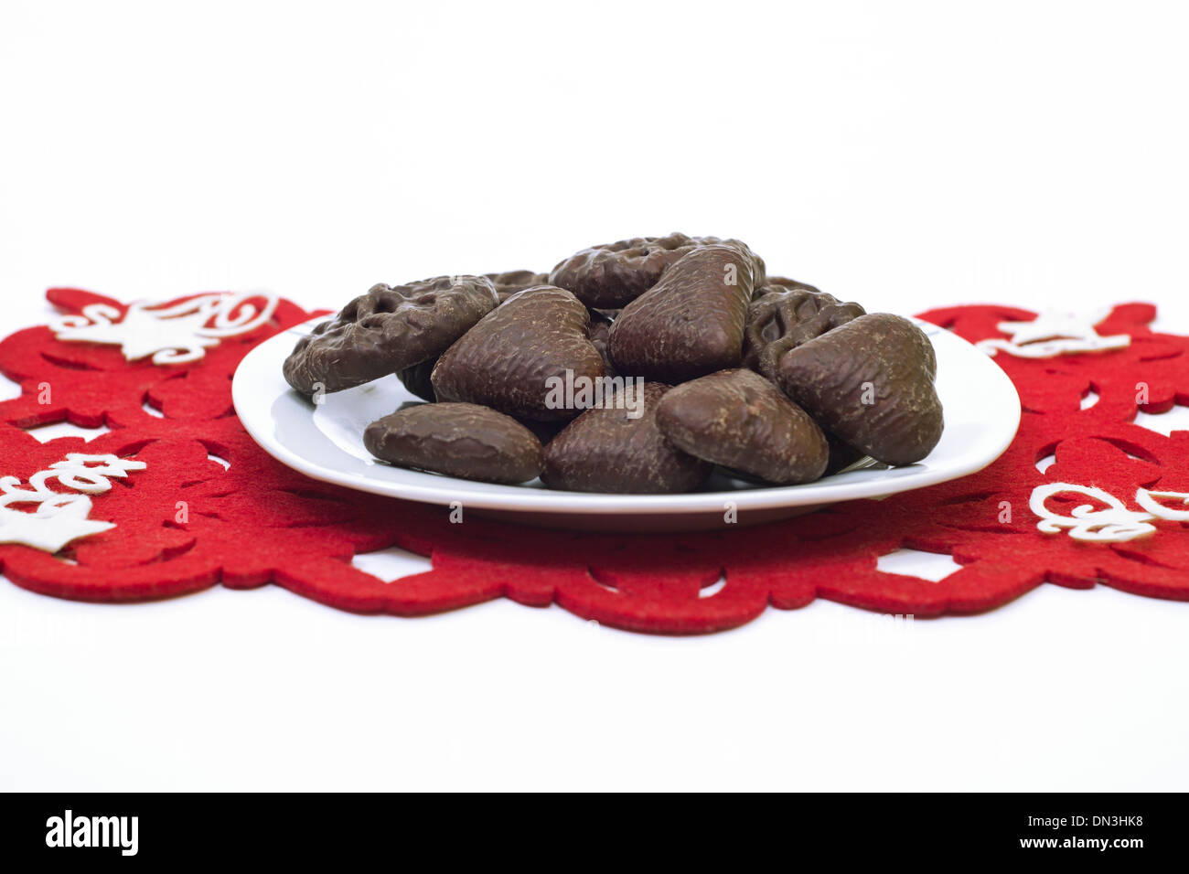 Plate Full Of Famous Polish Gingerbread Cookies Stock Photo