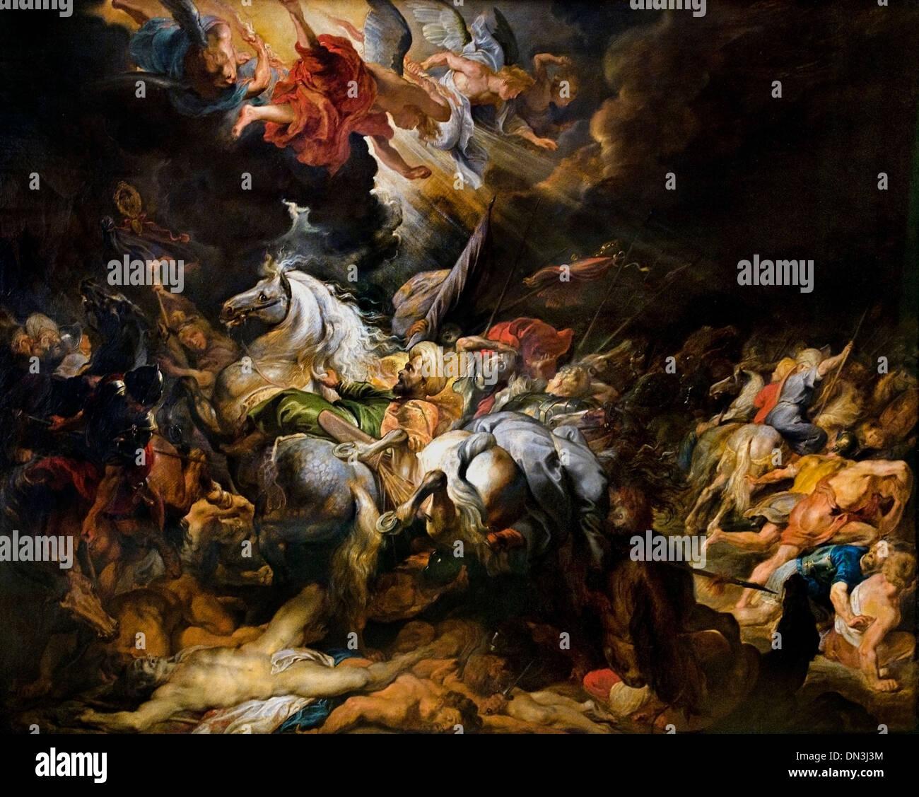 Peter Paul Rubens (1577–1640) Flemish Belgian Belgium Defeat of Sennacherib, 1616-1618 - Stock Image