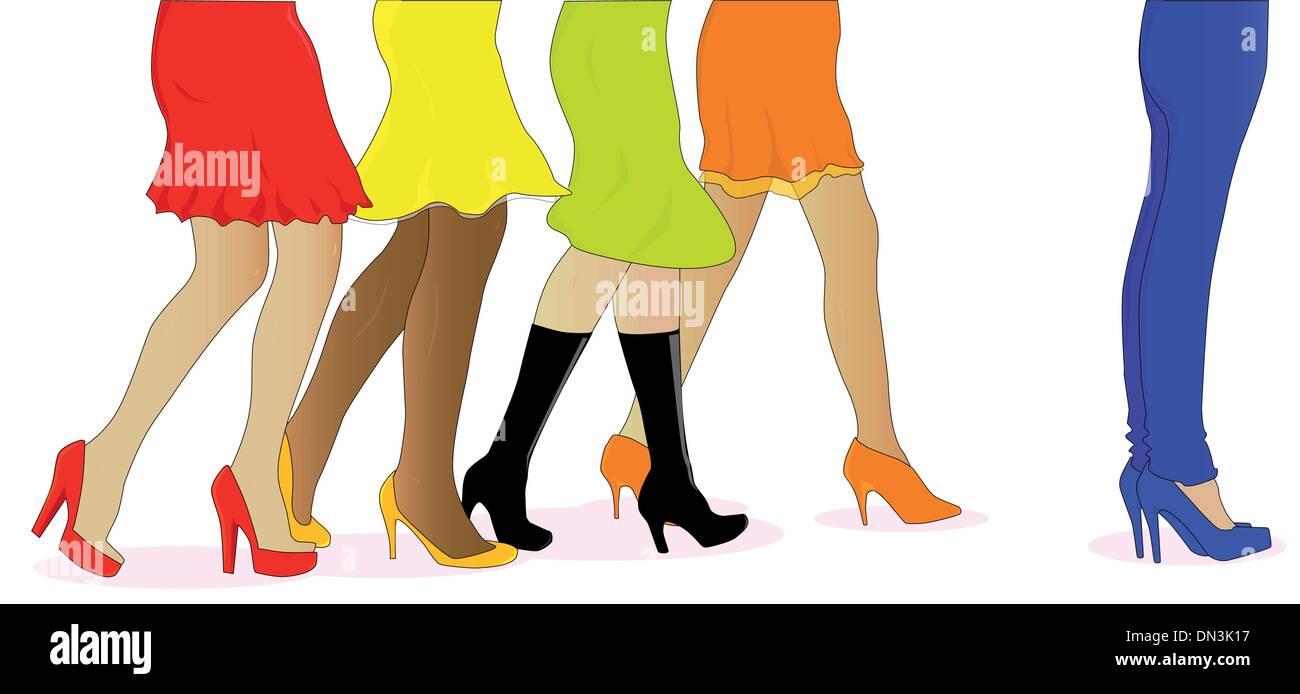 Womens Legs - Stock Vector