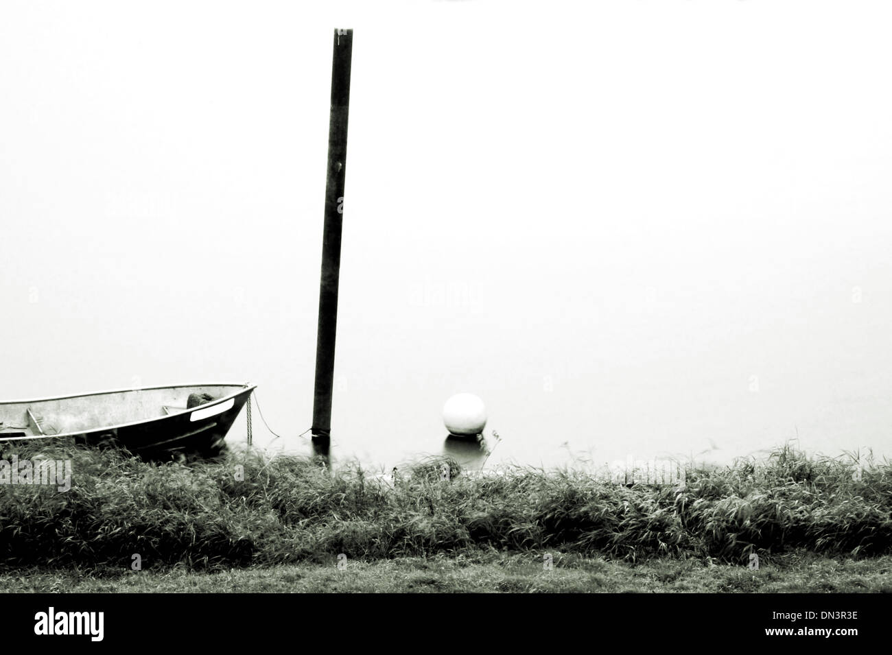 Rowing boat long time exposed Stock Photo