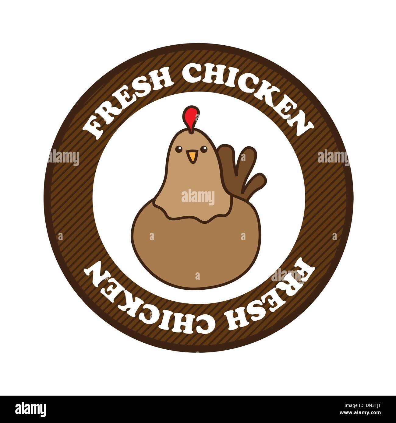 fresh chicken - Stock Vector