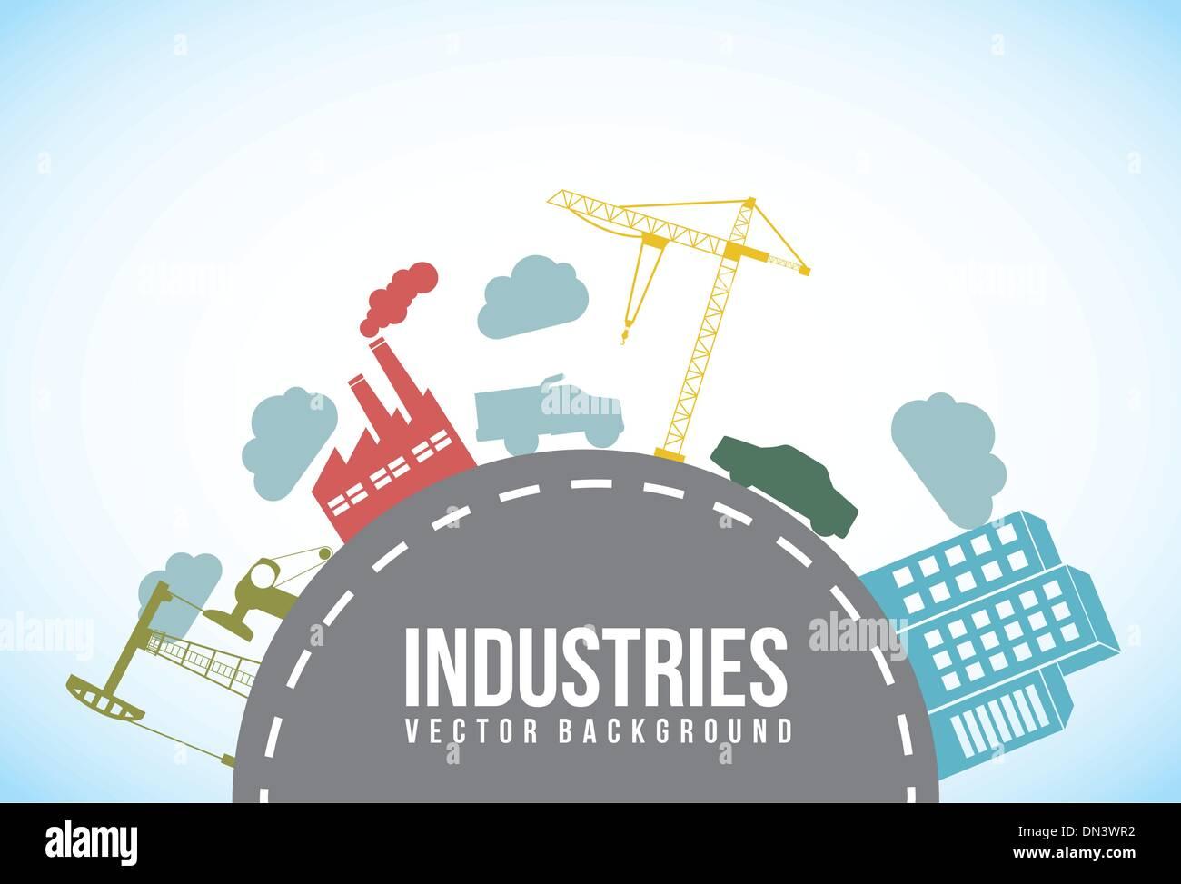 industries - Stock Vector