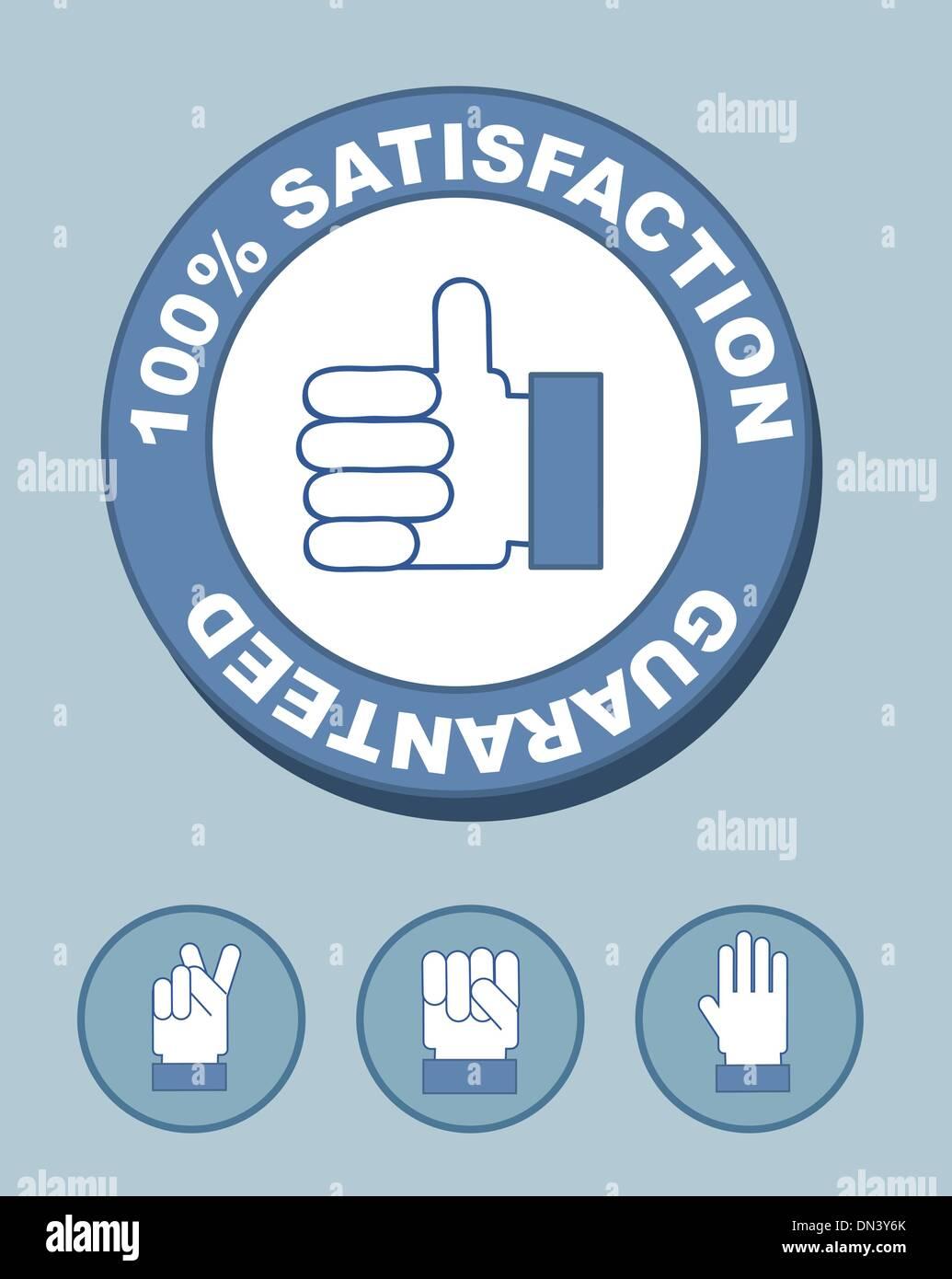 100% satisfaction - Stock Image