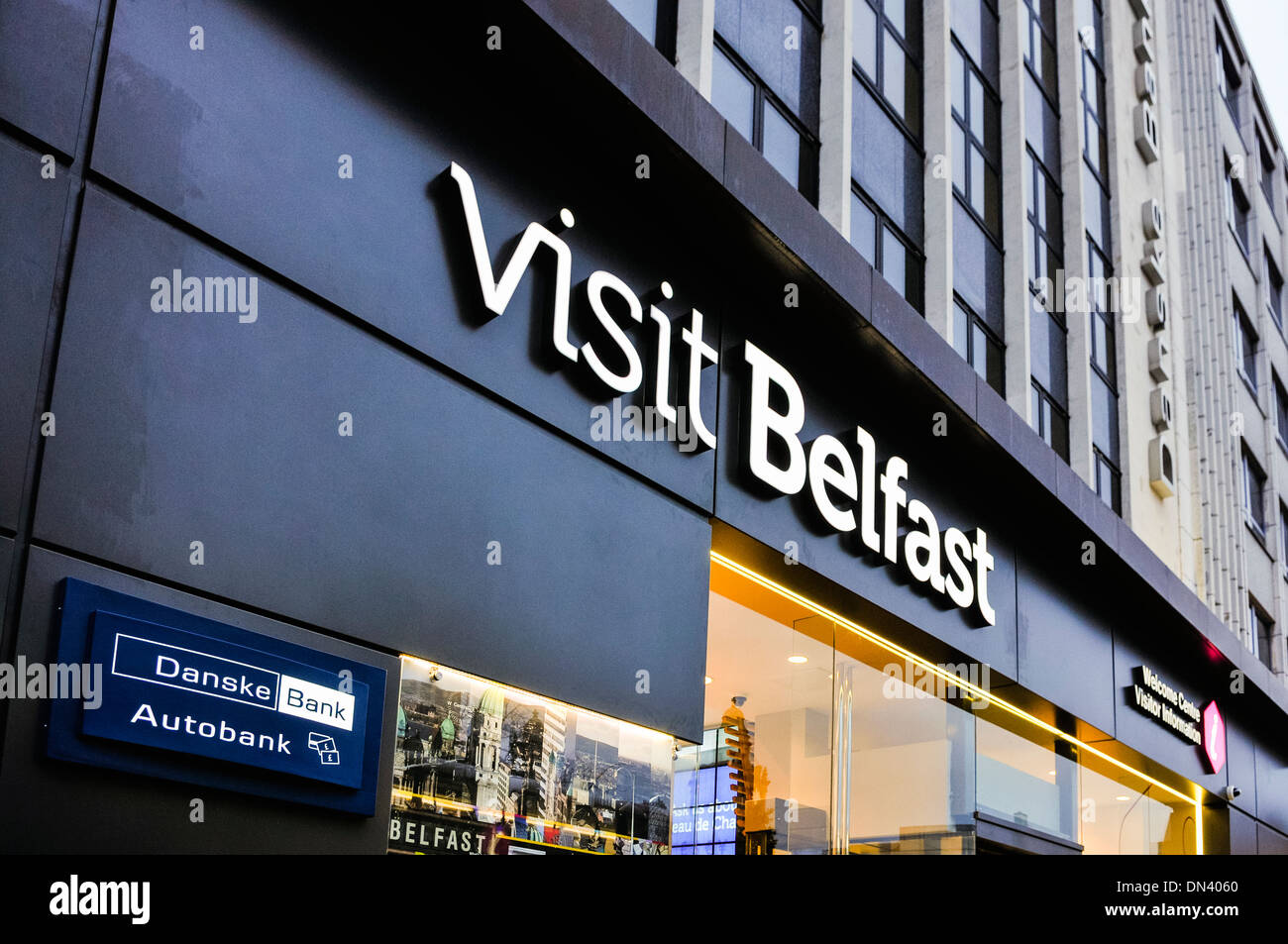 New Visit Belfast visitor and tourist centre in Belfast - Stock Image