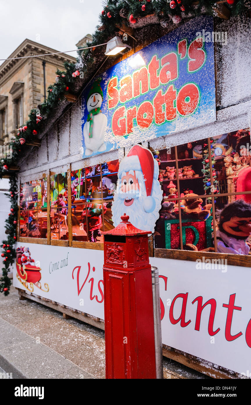outside of santas grotto stock image
