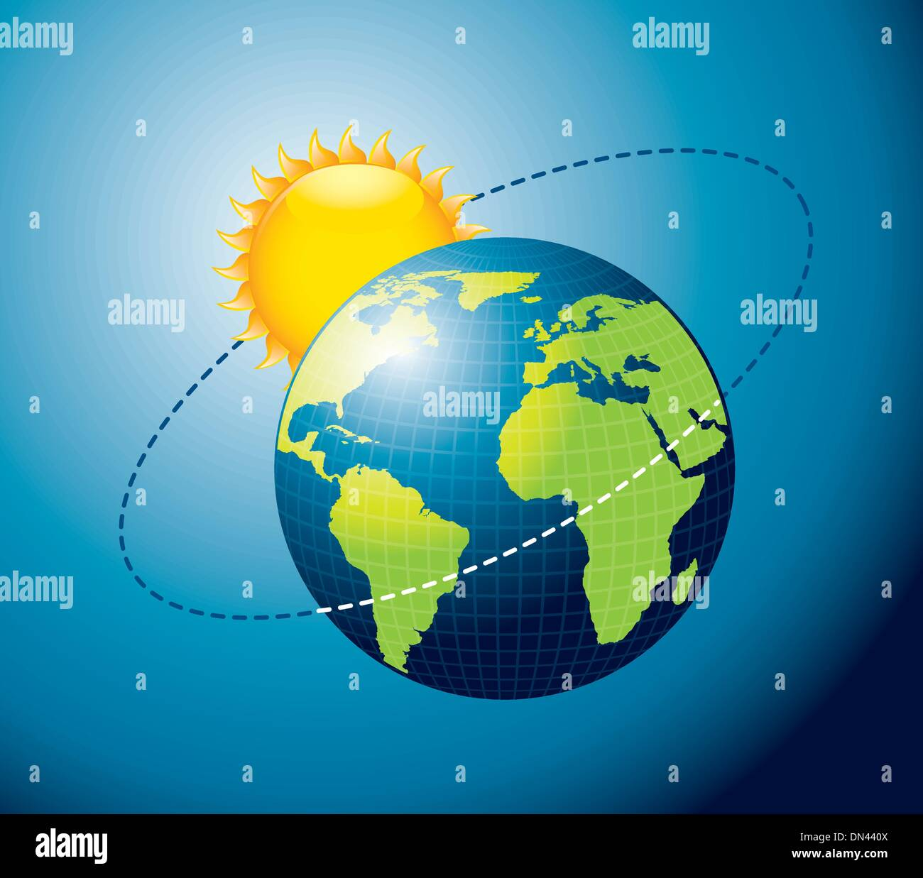 earth movement around the Sun Stock Vector Art ...