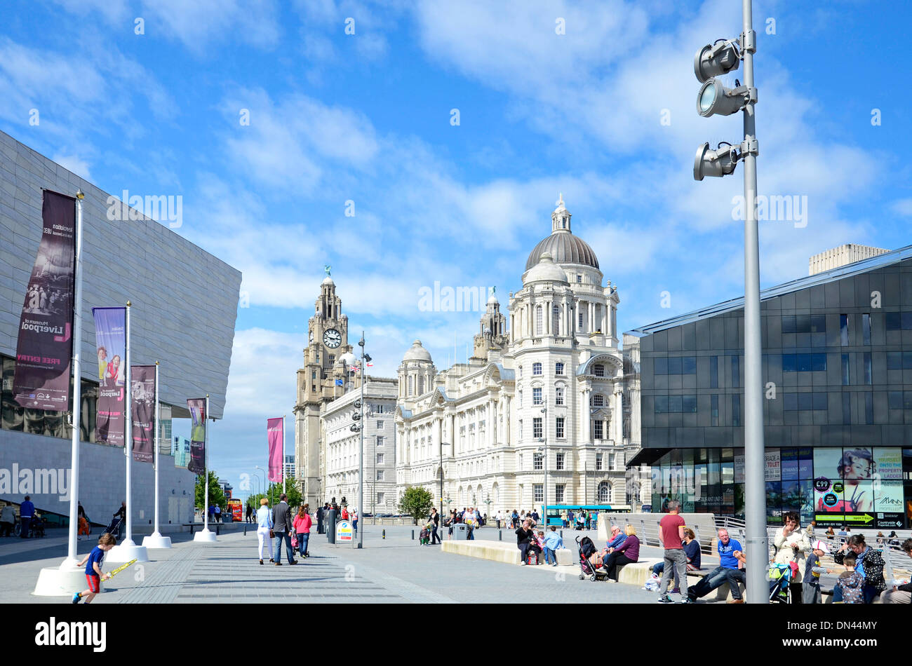 Outside the Museum of Liverpool, Merseyside, UK - Stock Image