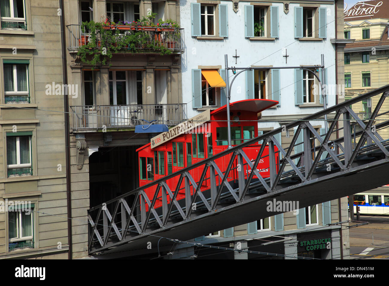 Switzerland, Zurich, polybahn to University. Stock Photo