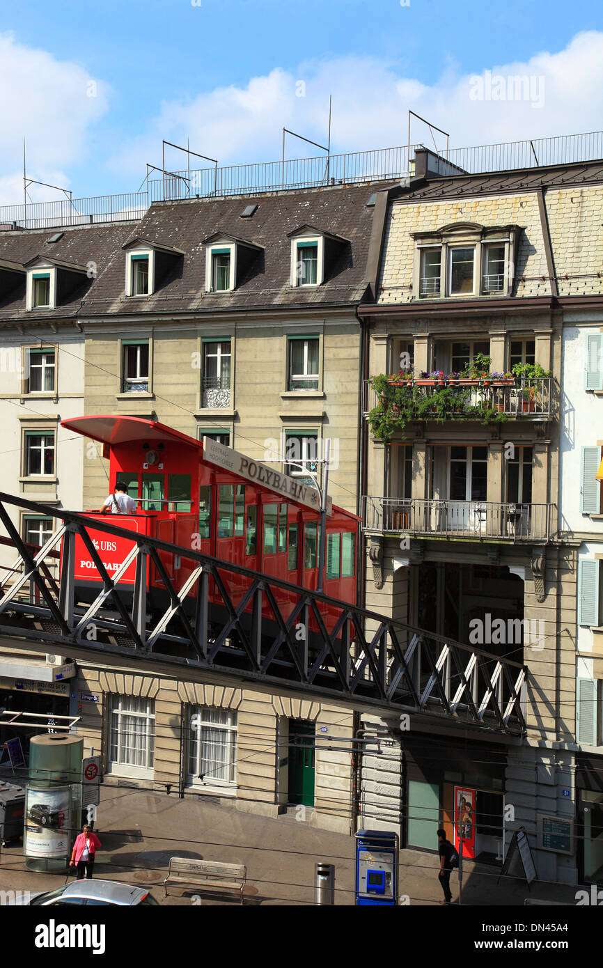 Switzerland, Zurich, polybahn to University. Stock Photo