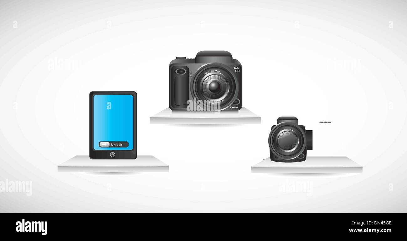 camera vector - Stock Image