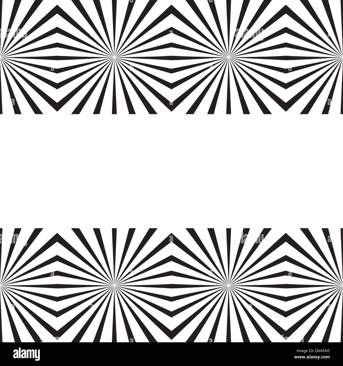 Vector geometric illusions tile - Stock Image