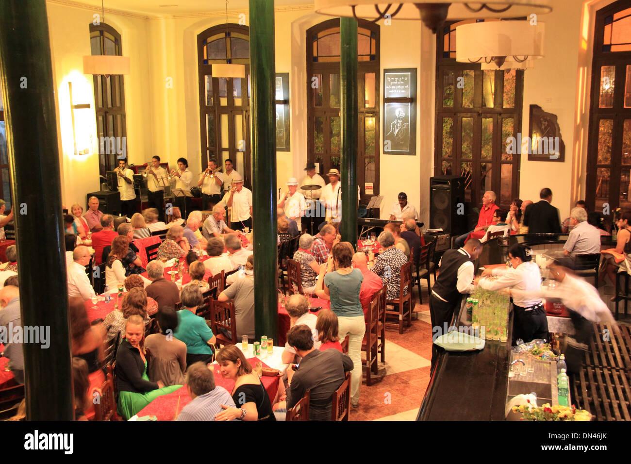 Buena Vista Social Club at Café Taberna, Old Havana (La Habana Vieja), Cuba, Caribbean Sea, Central America - Stock Image