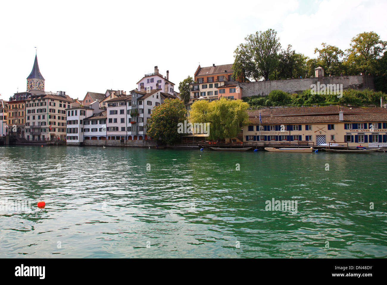 Switzerland, Zurich,old city and Limmat river. - Stock Image