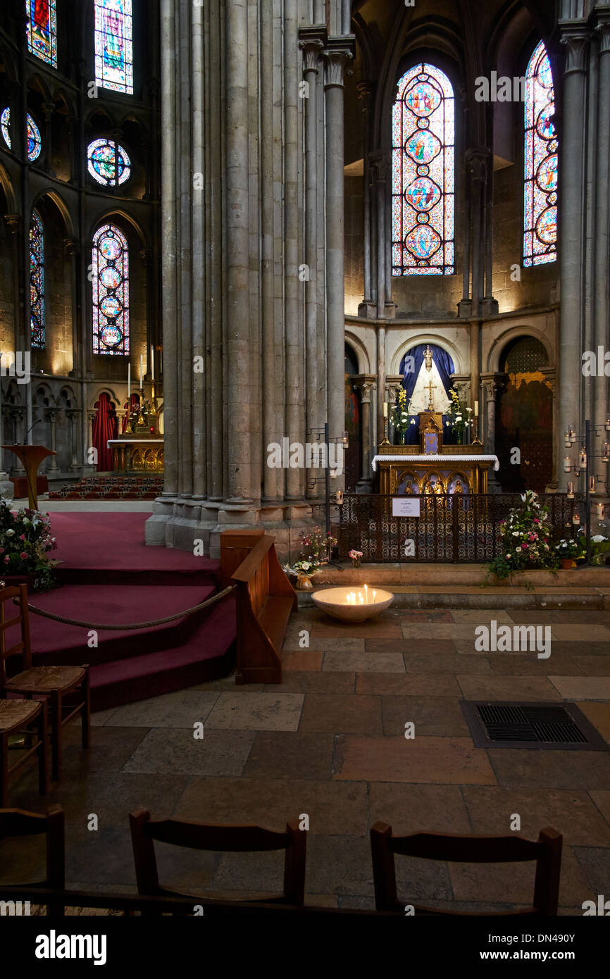 Roman Catholic Cathedral in Dijon, France - Cathedrale Saint-Benigne de Dijon Stock Photo
