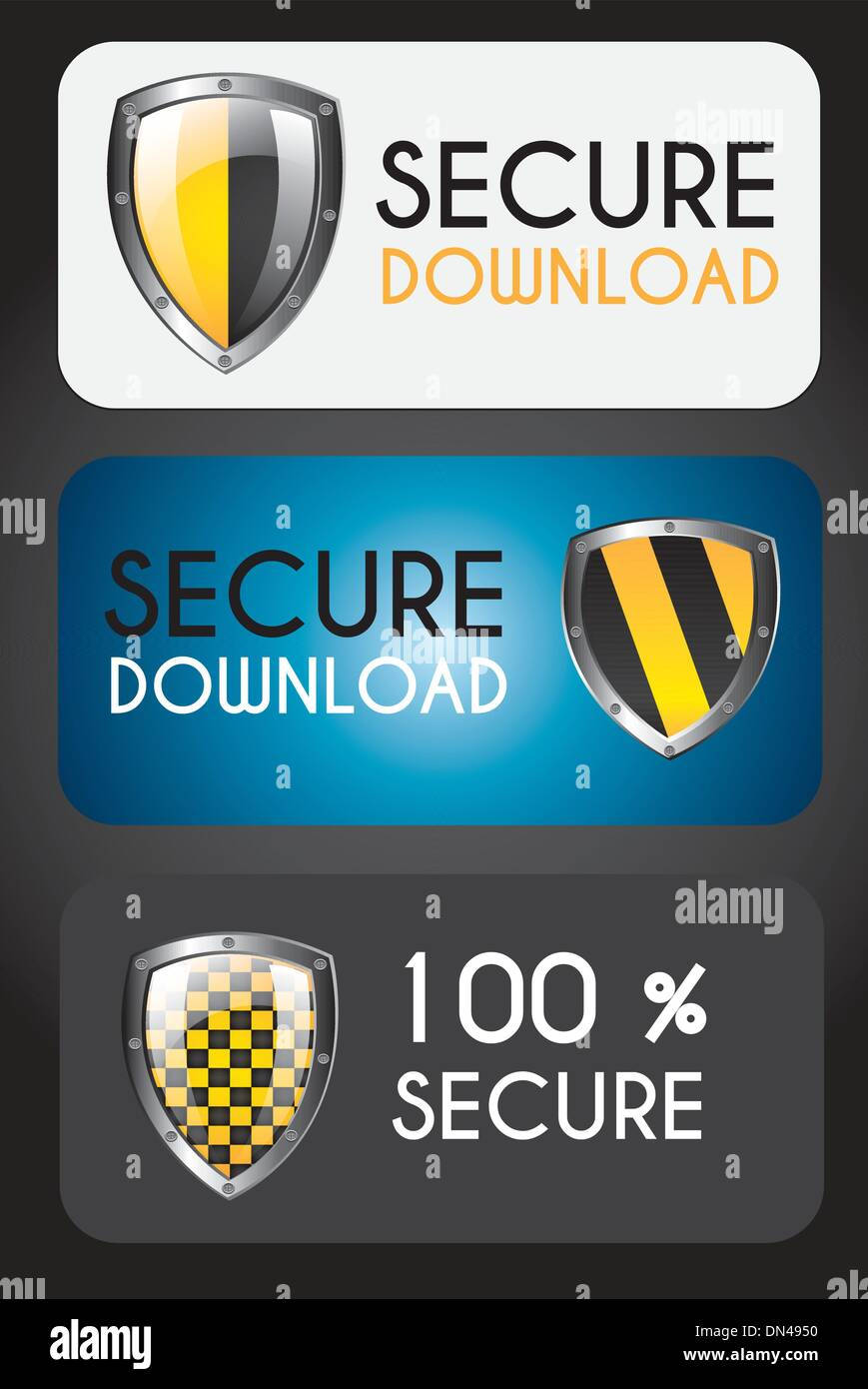 Secure icons - Stock Image