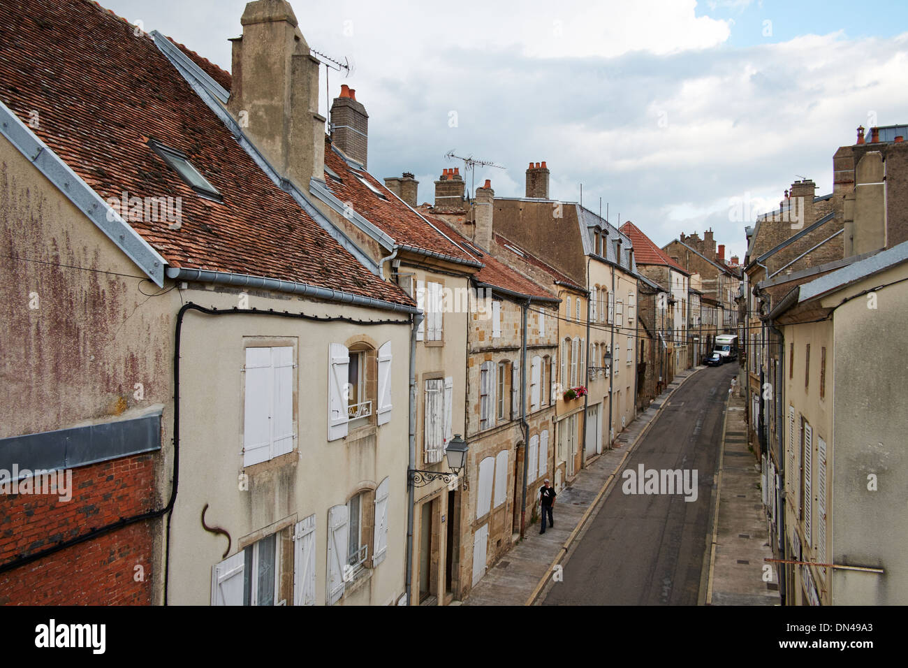 Townscape Langres, France - Stock Image