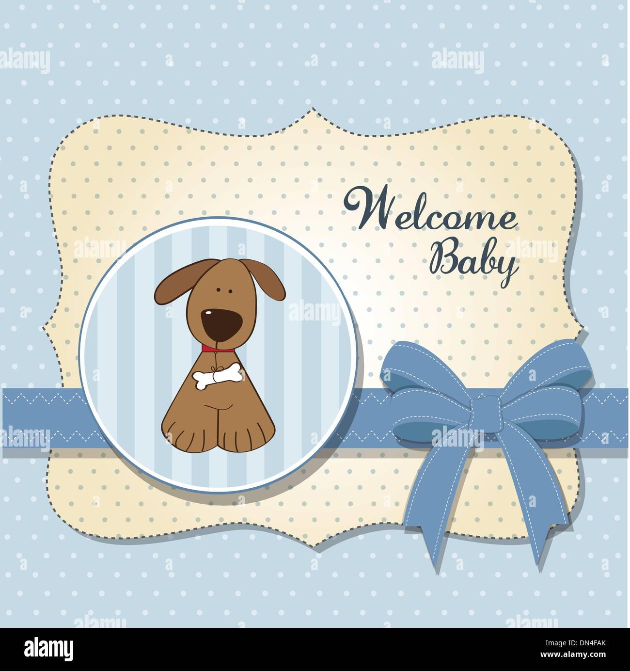 Beau Baby Shower Card With Dog