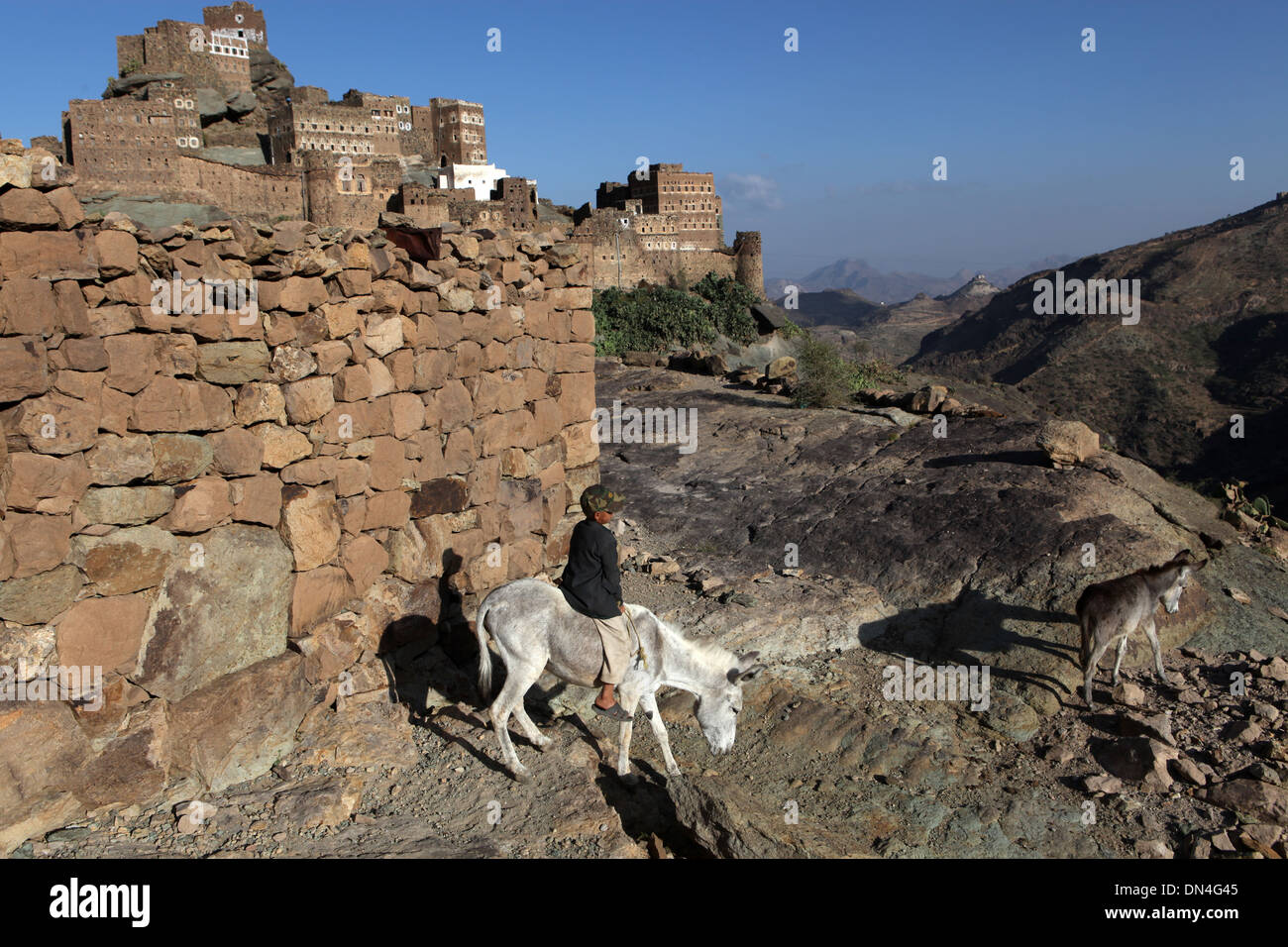 Haraz mountains, Yemen. - Stock Image