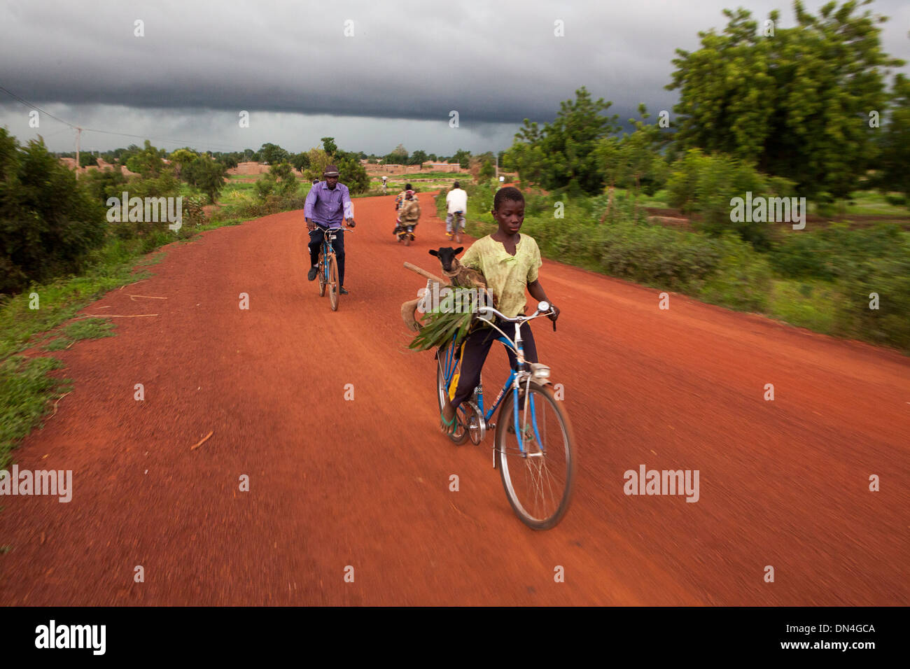 A storm under way in Dano, Burkina Faso. - Stock Image