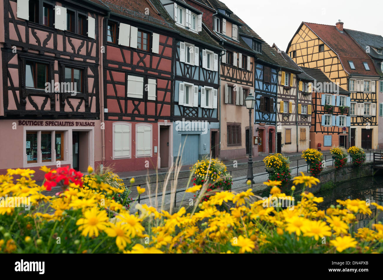 Elk213-2751 France, Alsace, Colmar, Petit Venise with half-timbered houses Stock Photo