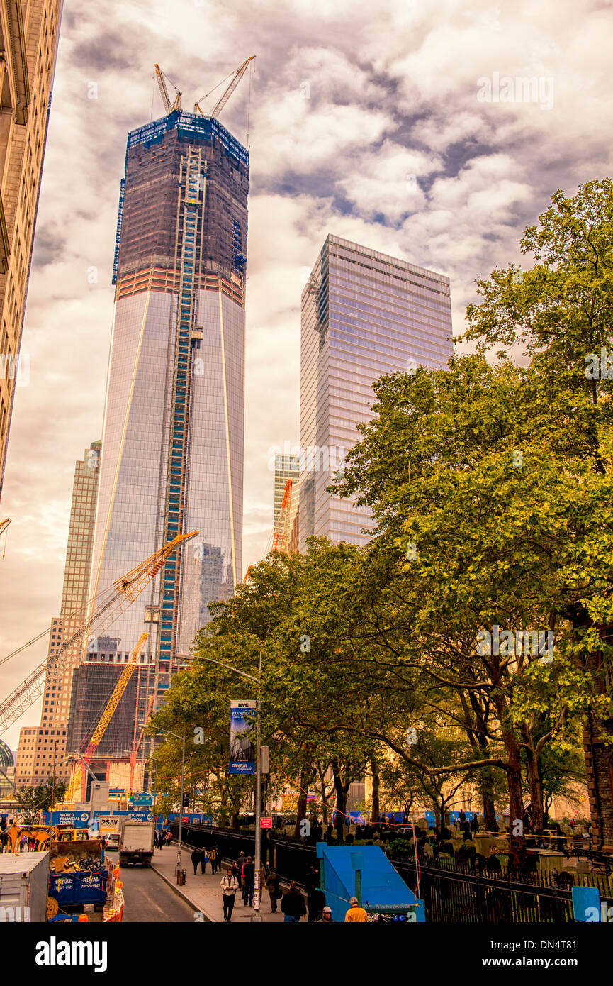 Construction Phase New York City One World Trade Center Tallest