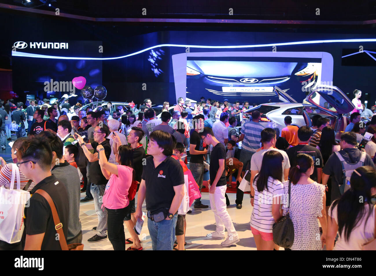 Crowd at KL International Motorshow (KLIMS) 2013. - Stock Image