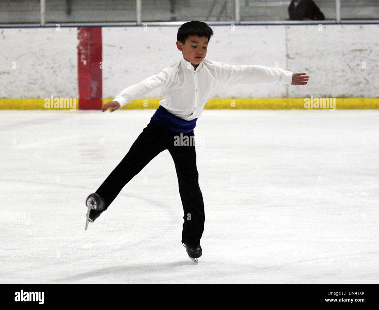 Oct 27, 2006; Antioch, CALIFORNIA, USA; KEVIN SHUM, 9 years-old of Piedmont, during a practice session at the Oakland Stock Photo