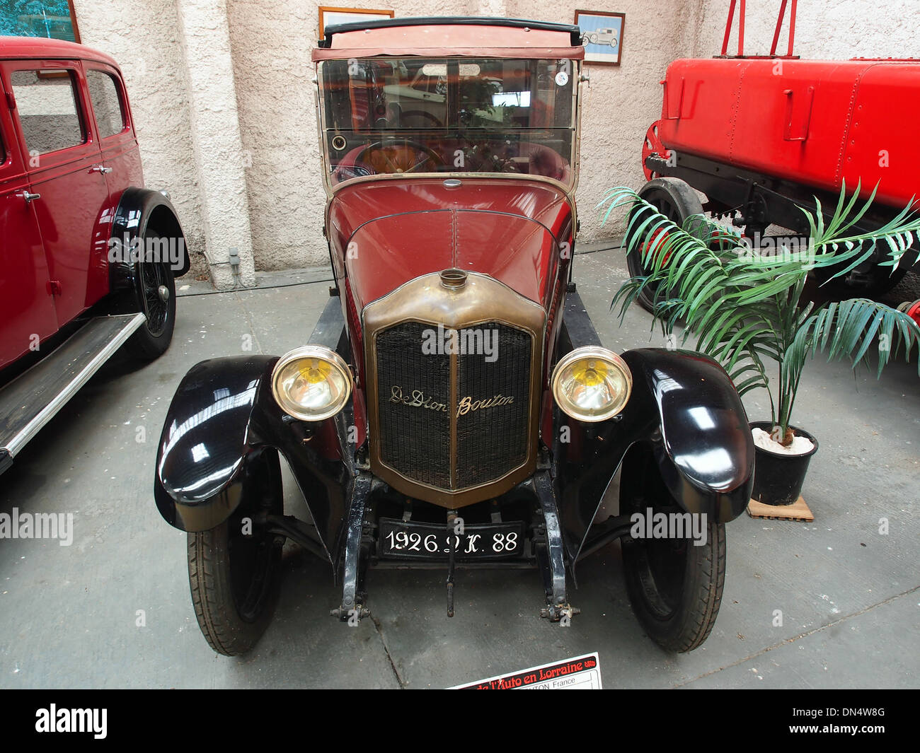 1926 De Dion-Bouton Type IW, 4 cylinders, 1800 cm3, 43hp, - Stock Image